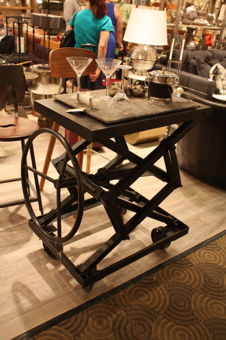 All-metal pieces like this are clearly industrial in style.