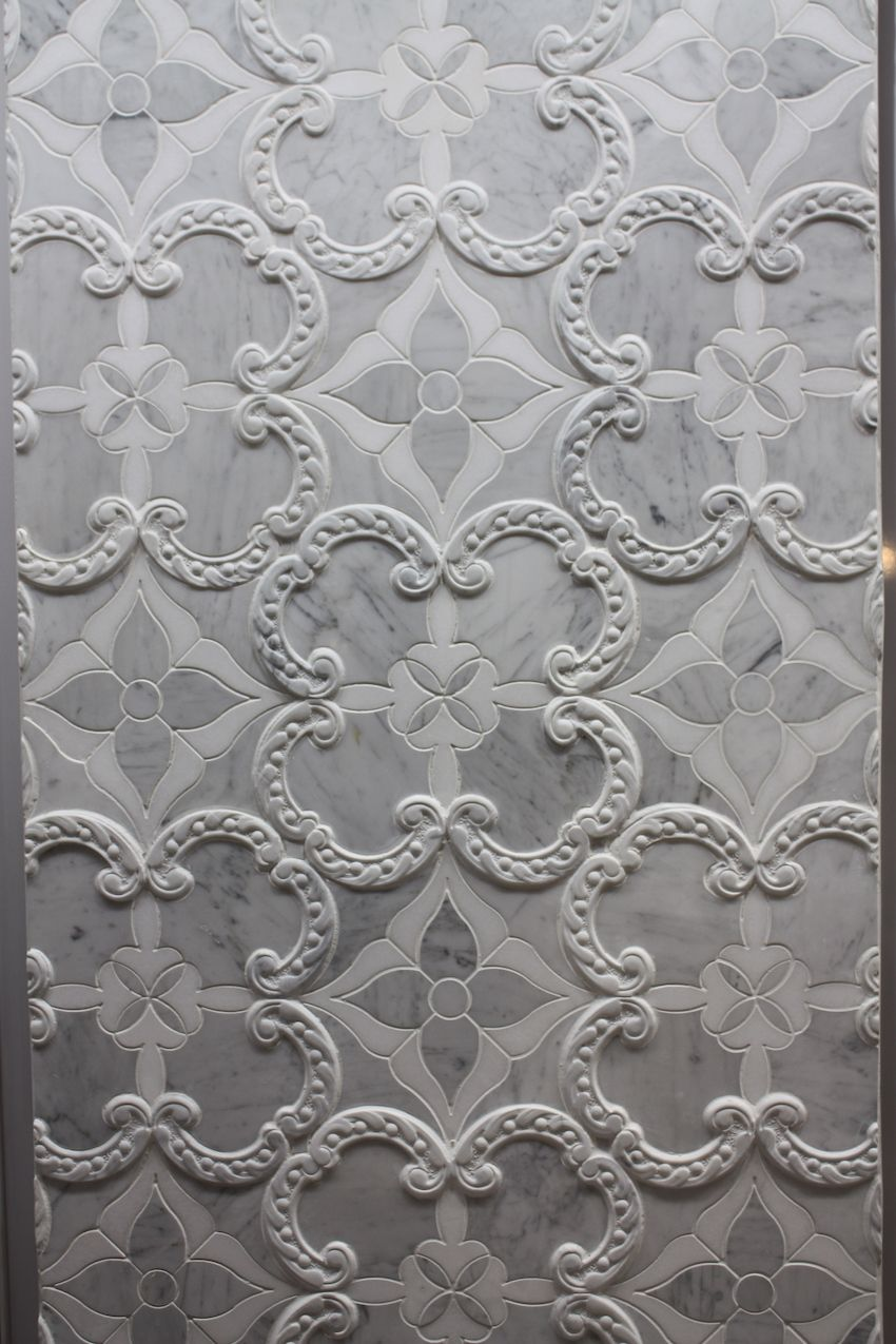 Although the curvy design is a bit rococo, it would work well in a modern bathroom too.