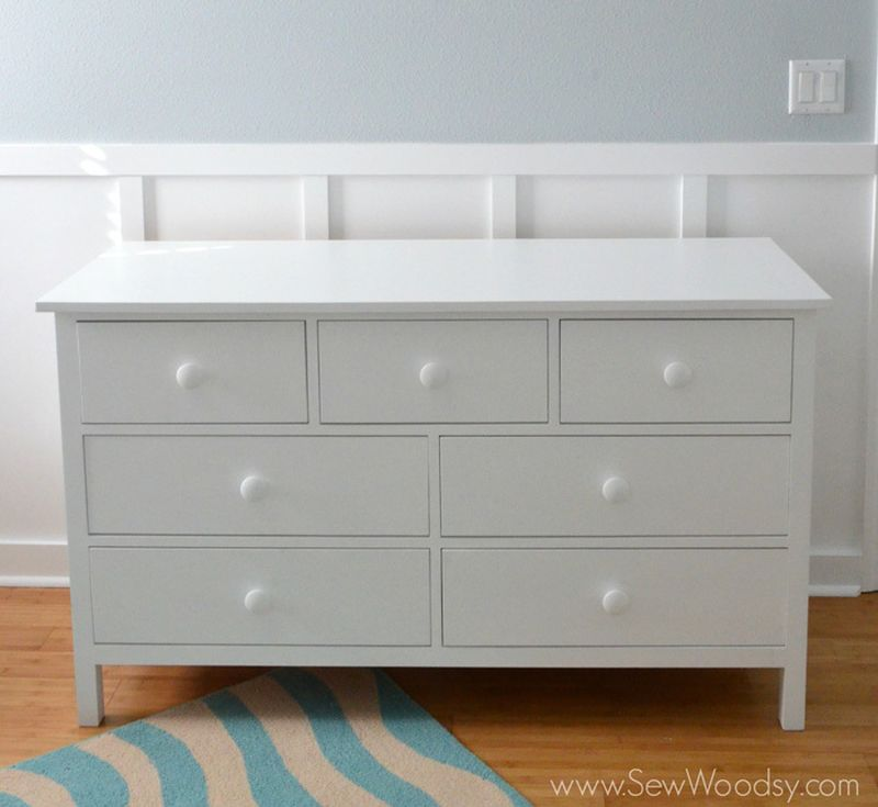 An extra wide dresser for the nursery