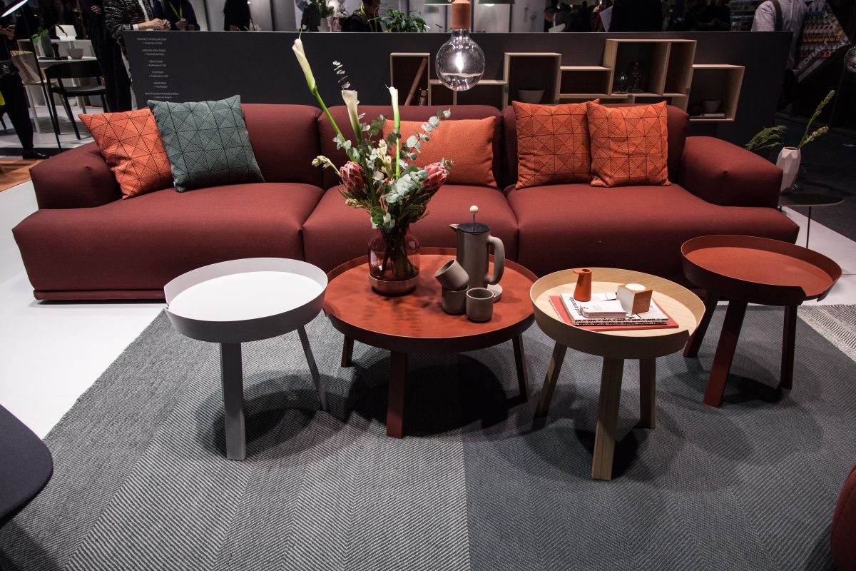 Around large coffee tables