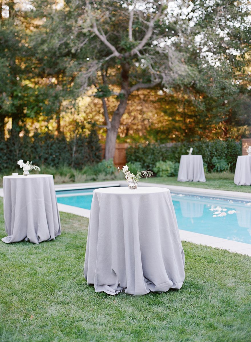 Backyard party cocktail tables