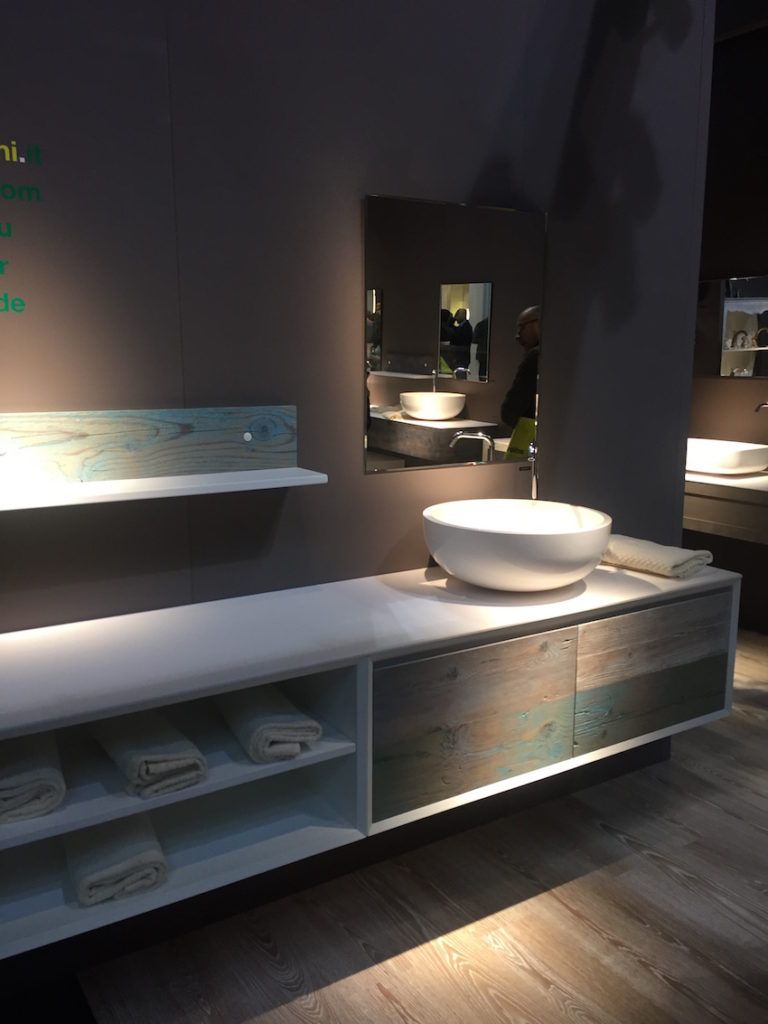 Softly directed spotlights work well in a spa bathroom.