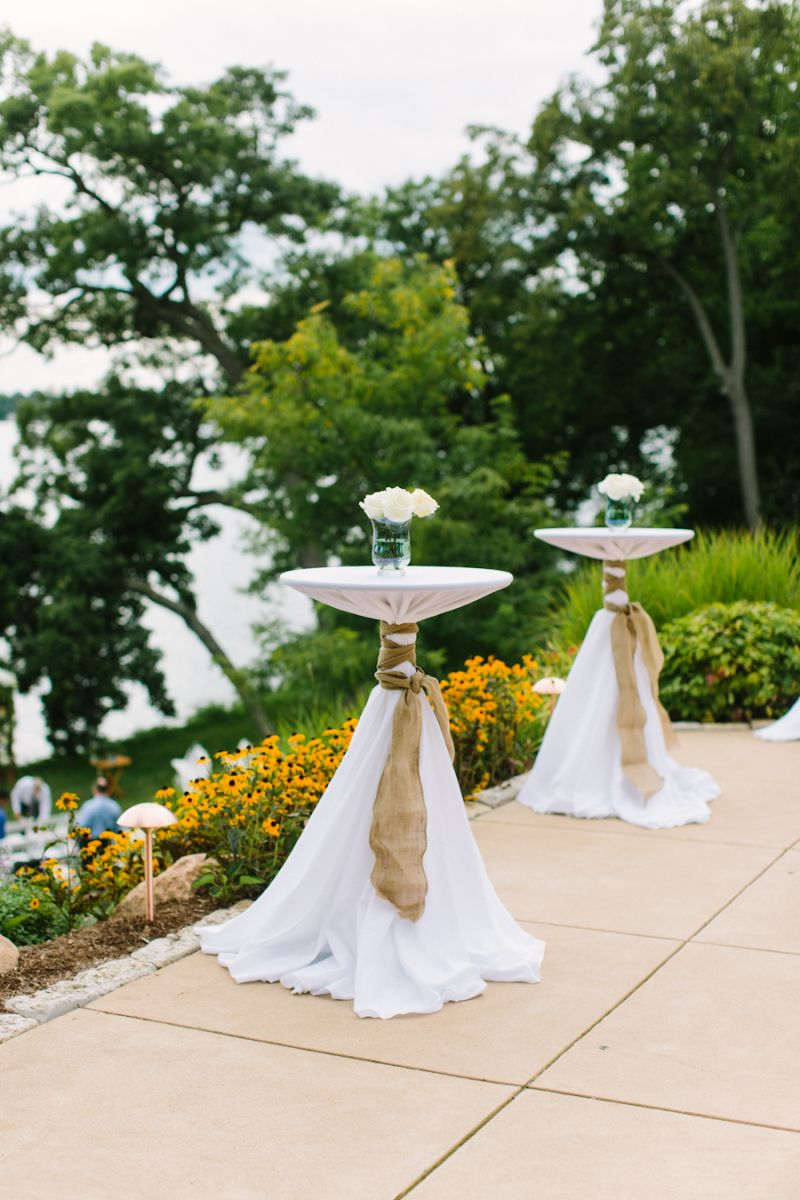 Beautiful Cocktail Tables with Burlap