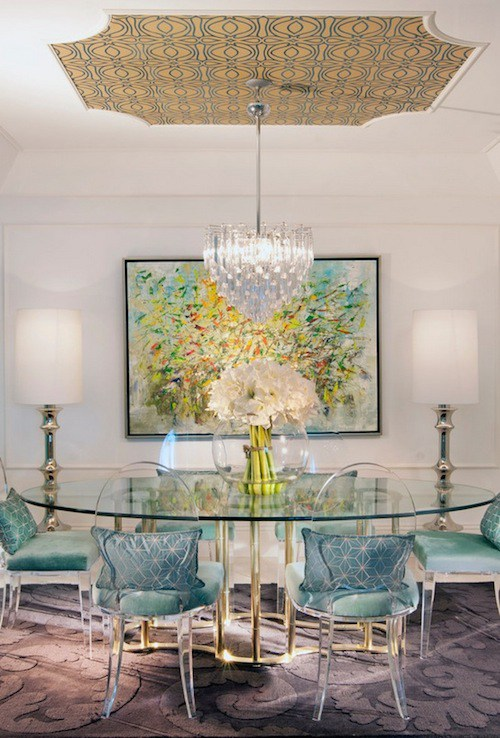 Beautiful oval dining room addition
