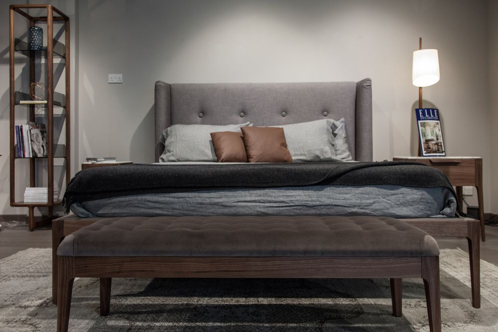 Neutral colors are often preferred in modern bedrooms because of their calming and soothing effect