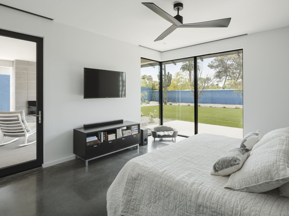 The master bedroom suite open onto its own little patio