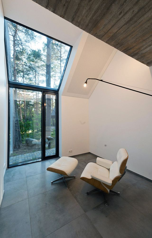 A separate nook with a large window makes a perfect reading corner
