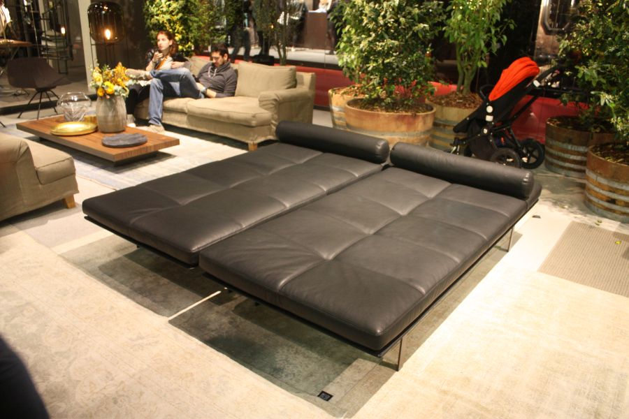 Black leather daybed