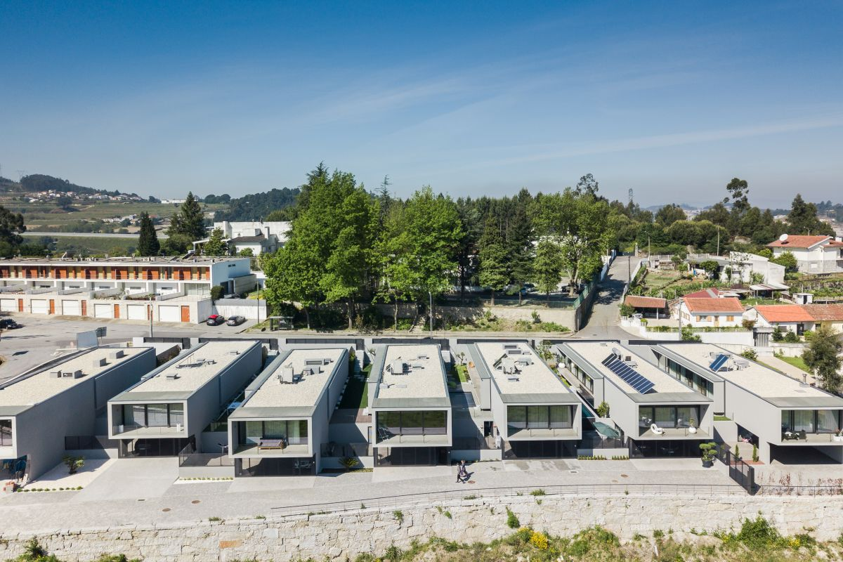 This residential development is made up of seven box-like houses