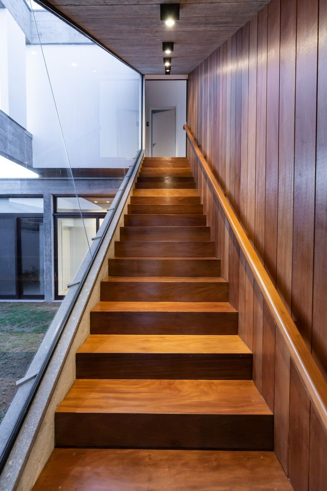 The staircase offers a really nice view of this entire inner courtyard volume