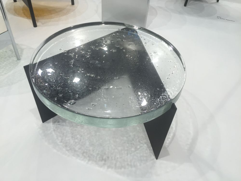 This would have to be one of the least conventional coffee table, glass top or not