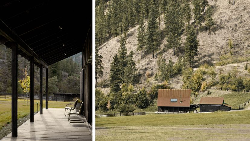 The barn's remote location makes it a perfect retreat, away from any distractions
