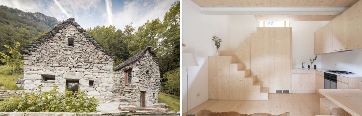 The strong contrast between the interior and the exterior of the house makes this project that much more interesting