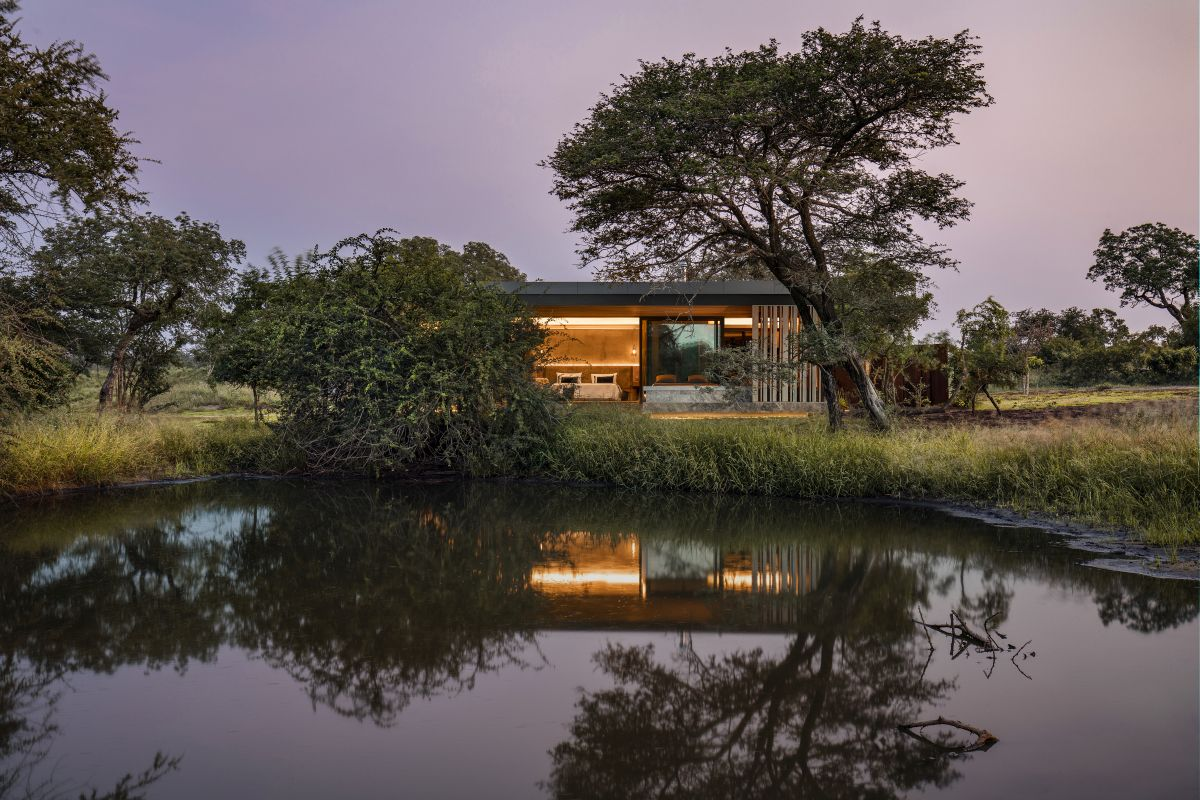 The Cheetah Plains game lodge offers a new safari experience which complements nature with modern architecture
