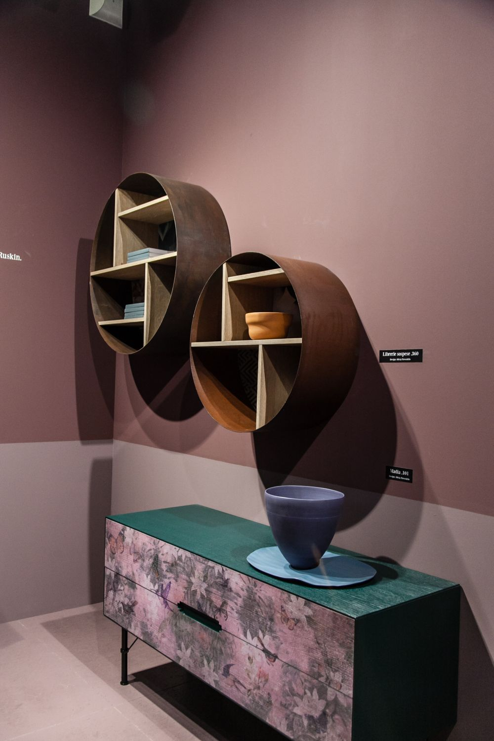 Not all shelves are flat and simple. Some are combined into interesting-looking modules like these ones