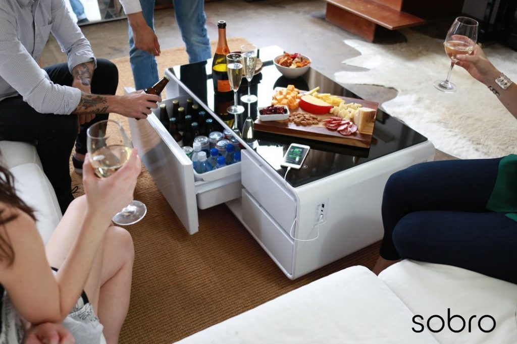 Cooler coffee table