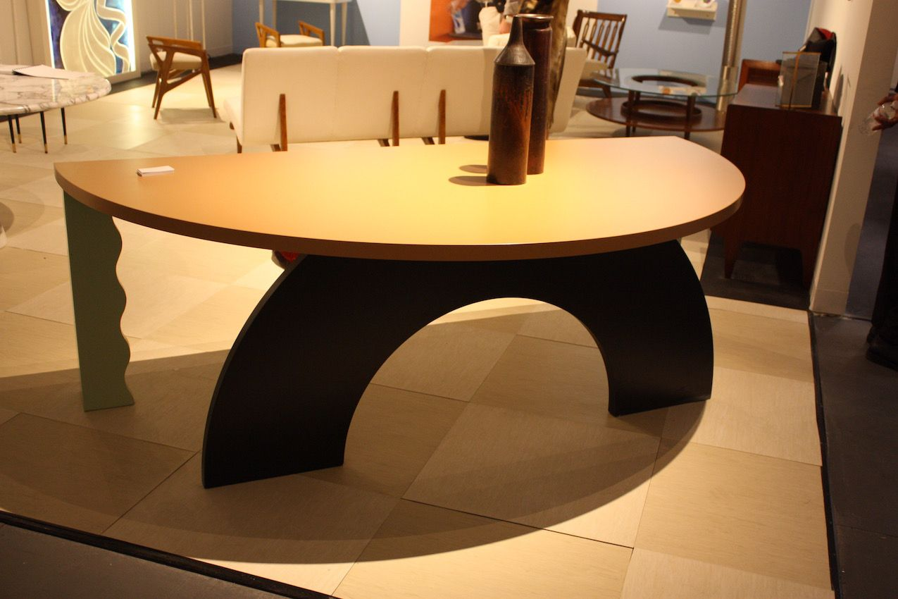 """This interesting piece is the Oasis Desk from the Collection """"Légion étrangère"""" by Italian designer Alessandro Mending. It was produced in Italy in 1988. It is also available at the Galleria Colombari in Milan."""