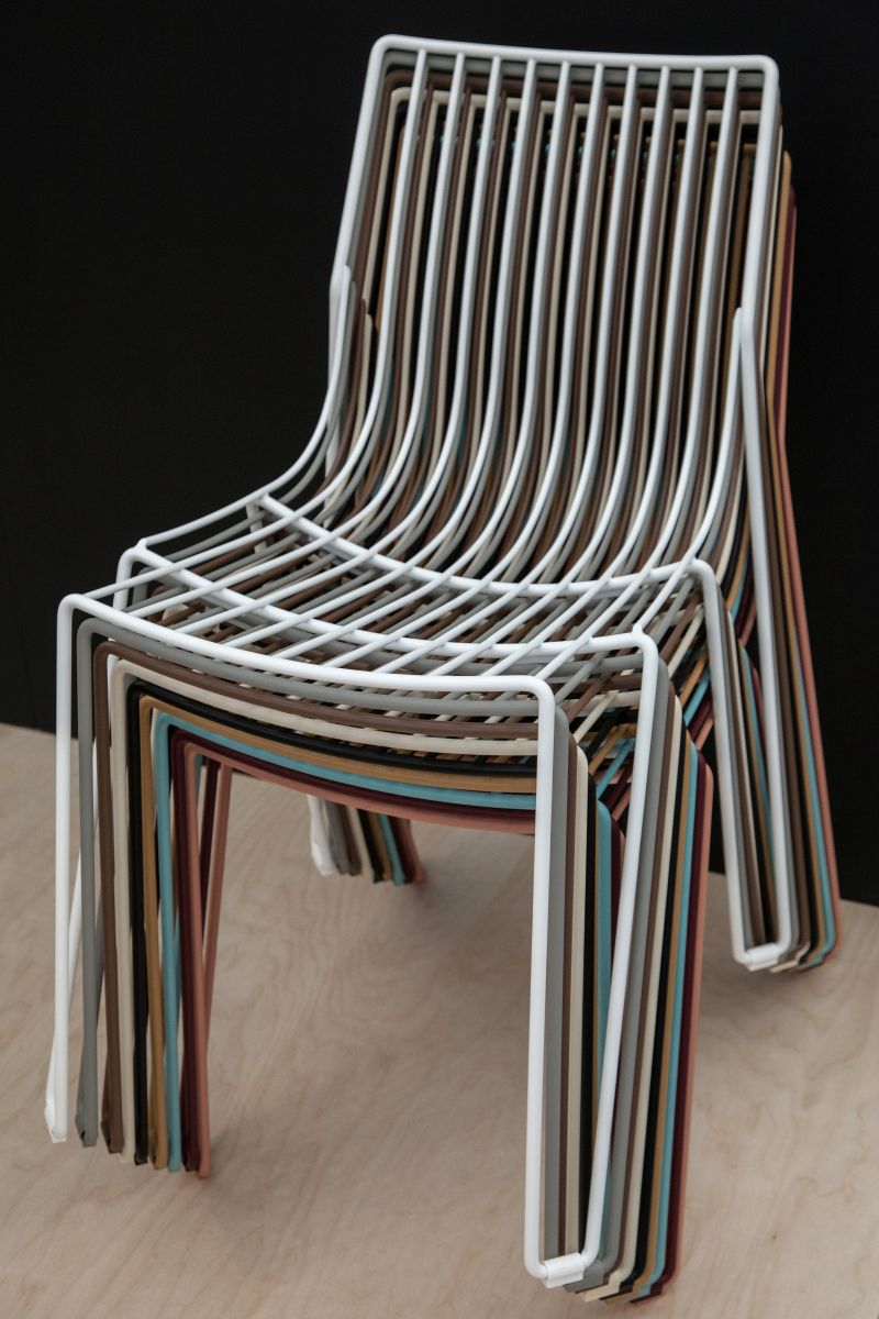 colorful-wire-stacked-chairs