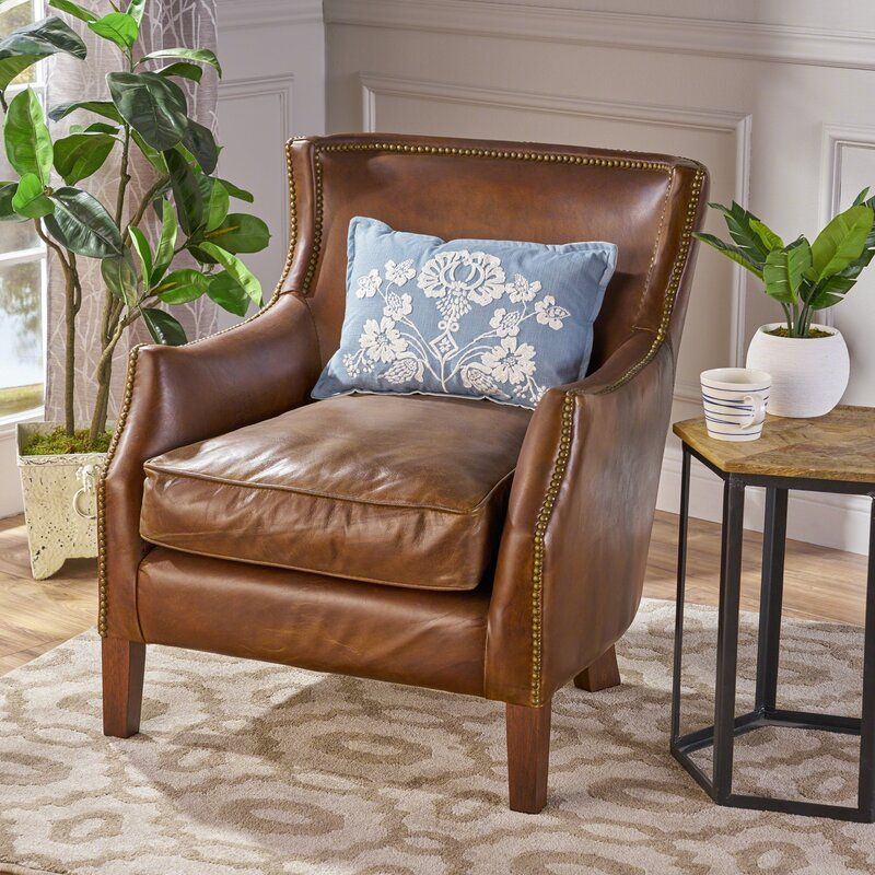 Colyer Genuine Leather Armchair