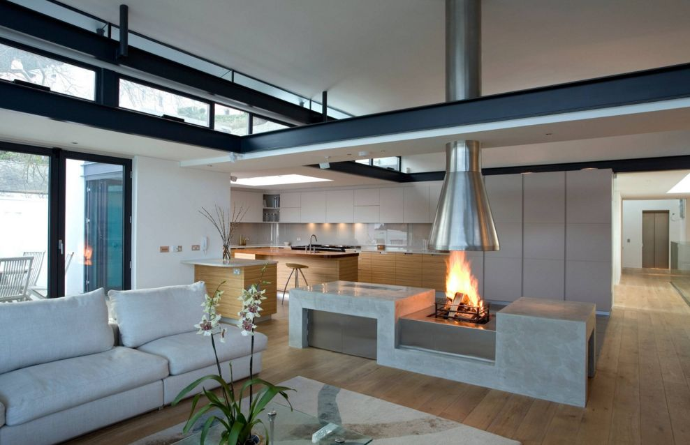 It's possible to combine the fireplace with another accessory or furniture piece[Image from Artichoke]