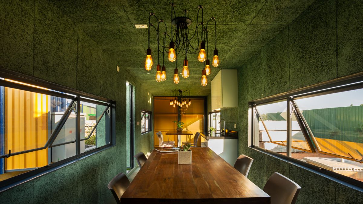 The interiors of the containers are wonderful, very warm and welcoming and with a homely ambiance