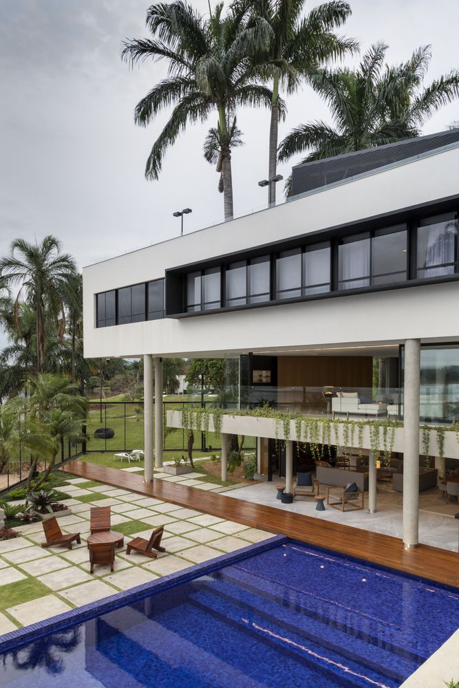 Each of the three levels has a unique identity and stands out from the rest of the house through its design