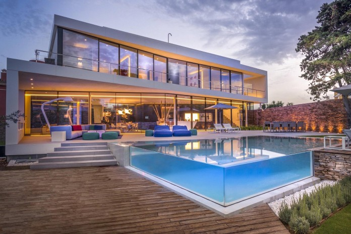 Cool blue villa from 123 dva - transparent swimming pool picture