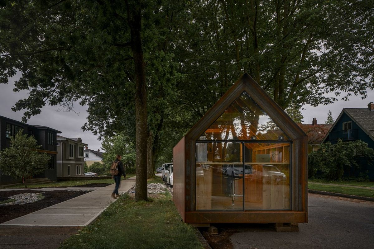 Thanks to its compact proportions, the Site Shack can fit just about anywhere