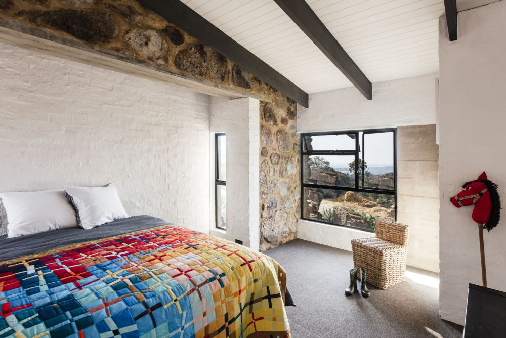 The loft bedrooms are open, bright and cozy
