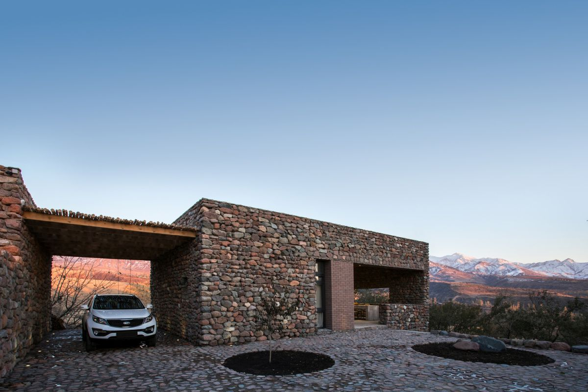The main building material chosen by the architects is local stone
