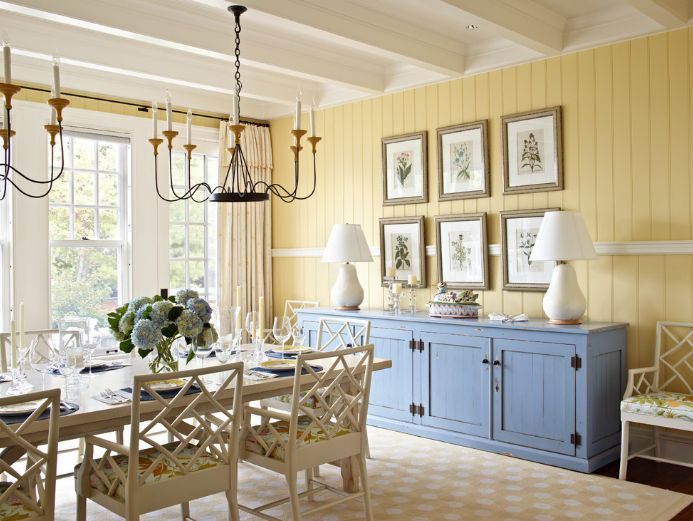 Country dining room with a beautiful sideboard