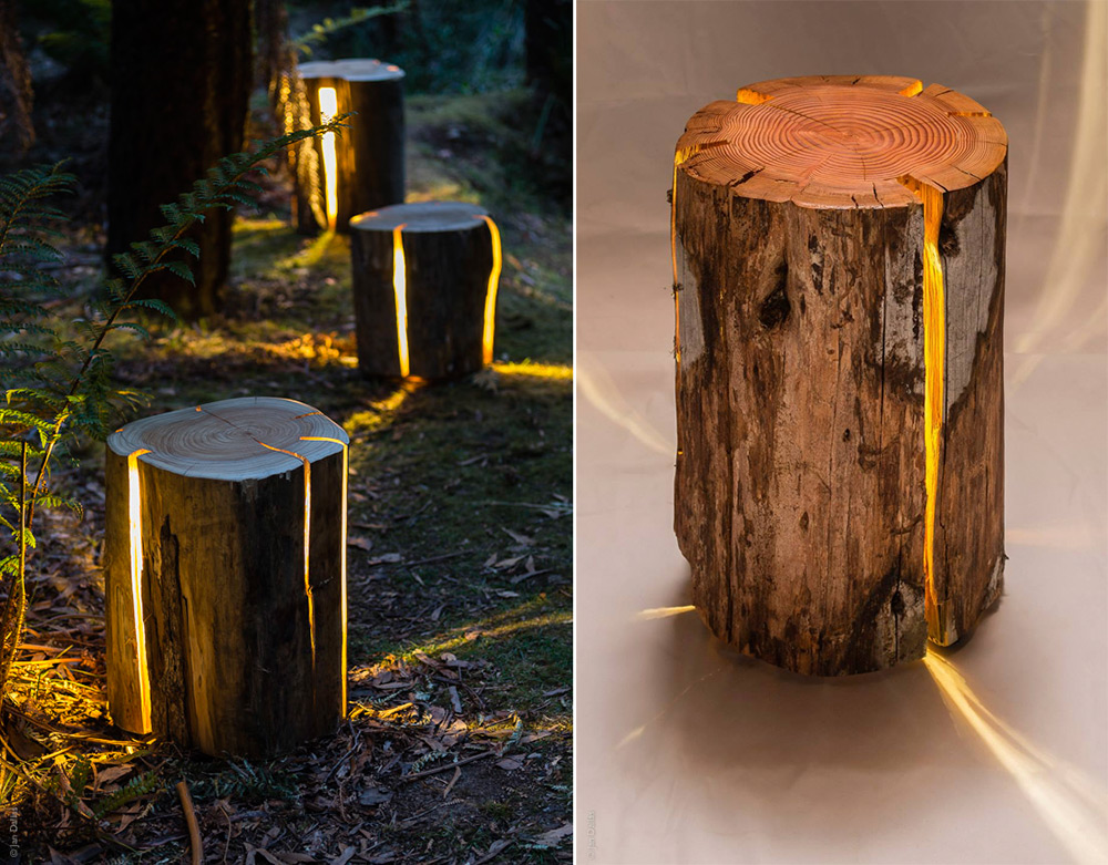 Cracked Log Lamps by Duncan Meerding Collage