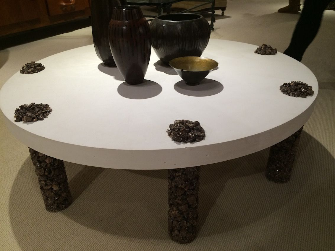 Crushed stone coffee table