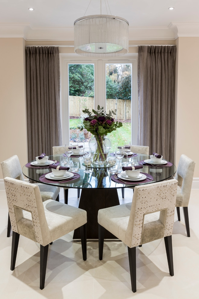 Decorative Dining Room Transitional Design Ideas For French Round Round Dining Room Table Decorating Ideas Round Dining Room Table Decorating Ideas - On Furnitures