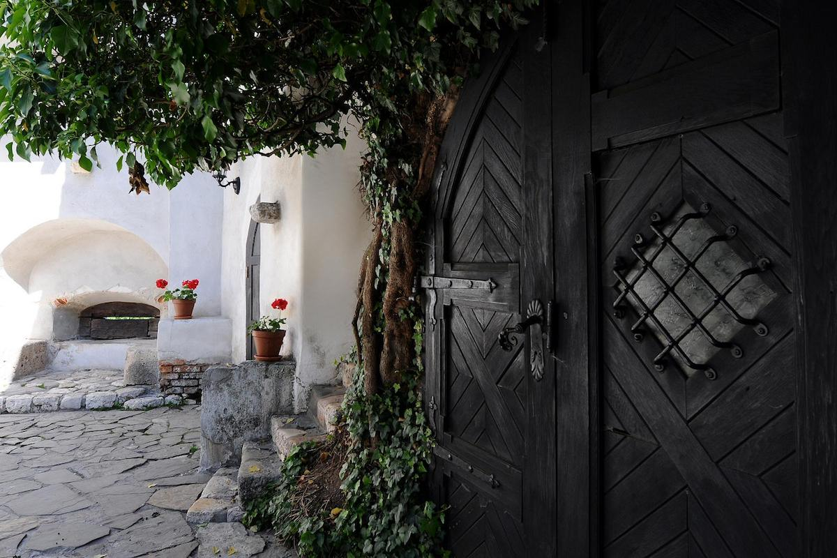 The inner courtyards have their own massive doors that offer access inside the castle
