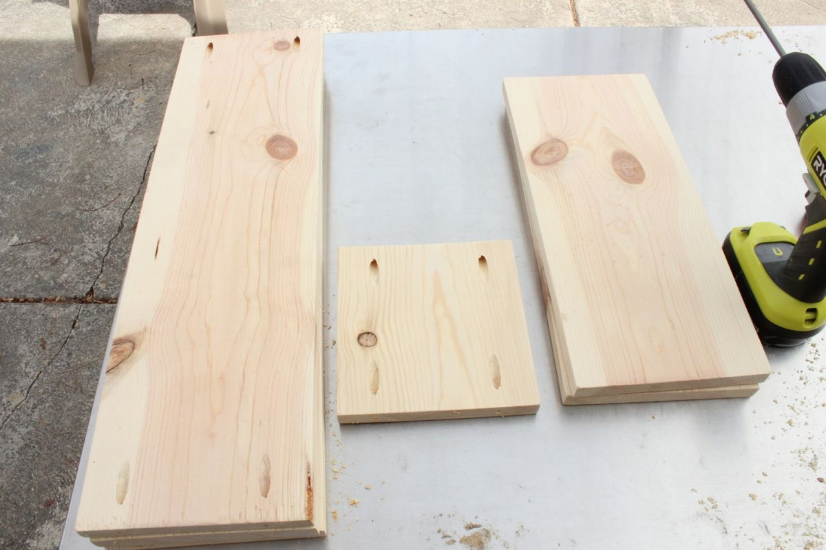Drilled four holes