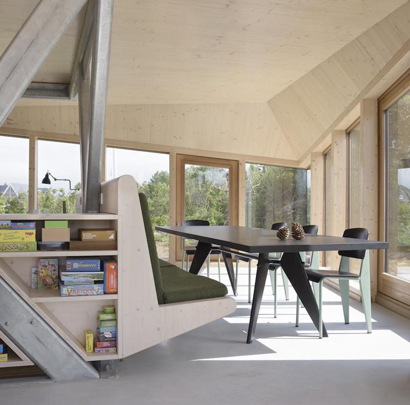 Every space has access to the outdoors and panoramic views of the landscape