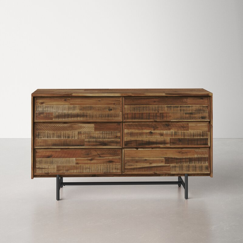 Eclectic dresser with texture and character