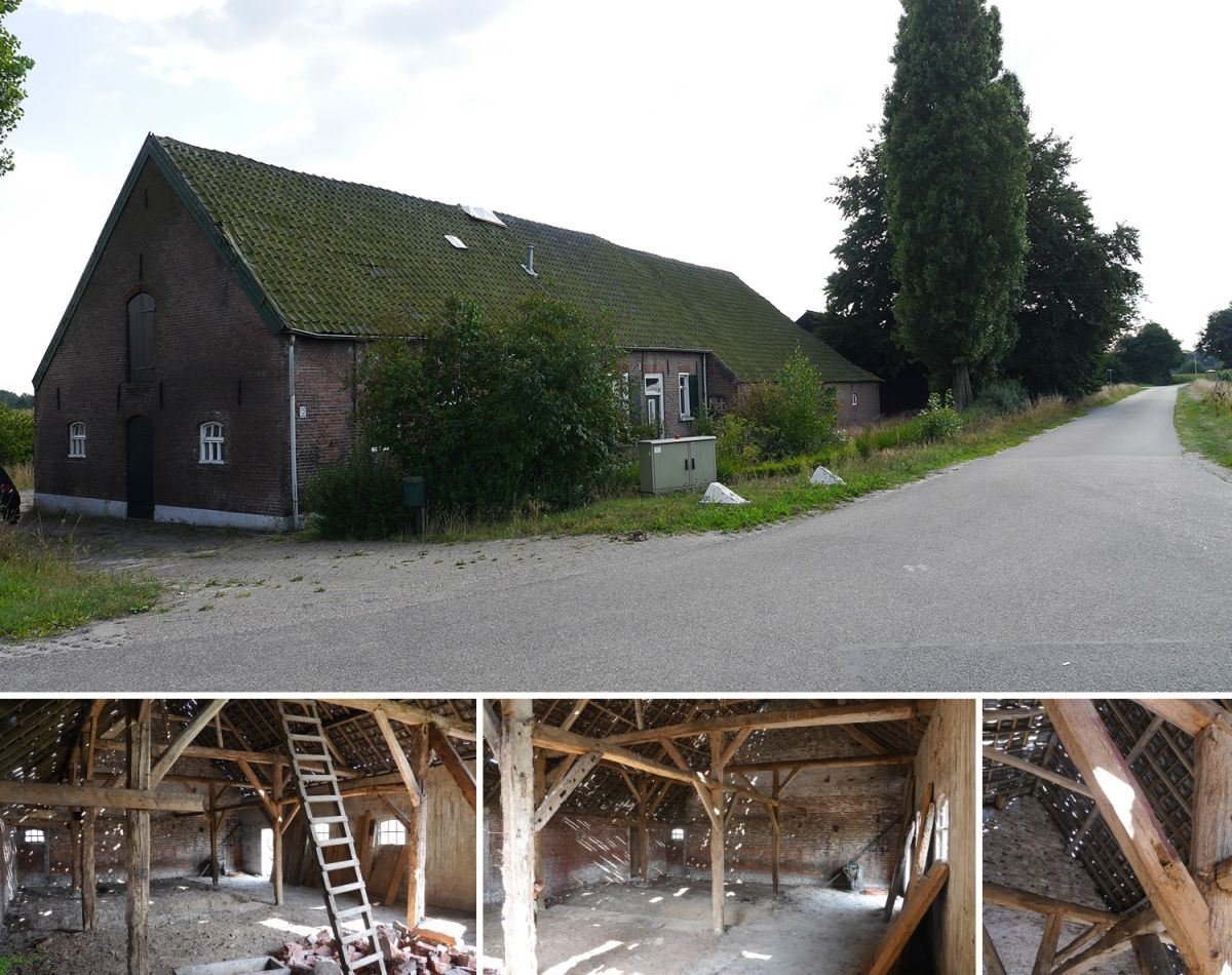 Although in very bad shape, the original old barn had a lot of charm and plenty of potential