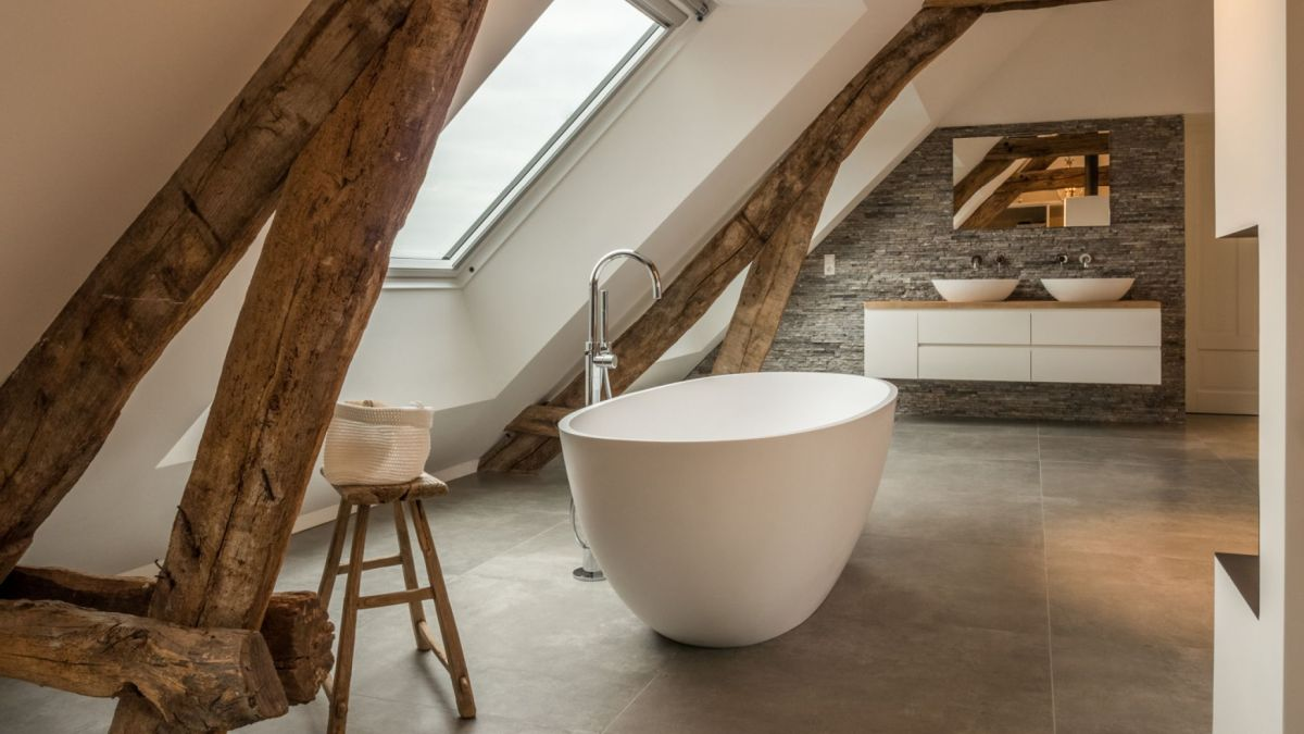 Although the roof shape does mean a smaller usable area overall, it adds a lot of authentic charm to the house