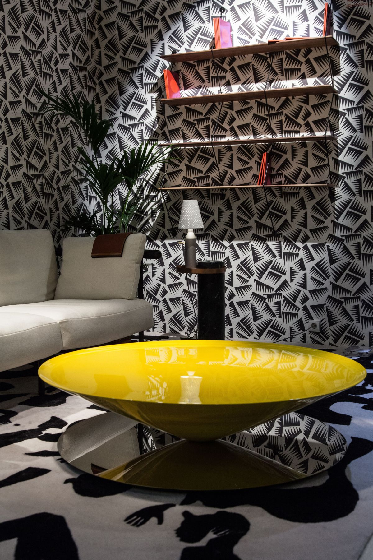 Float yellow Luca Nichetto coffee table