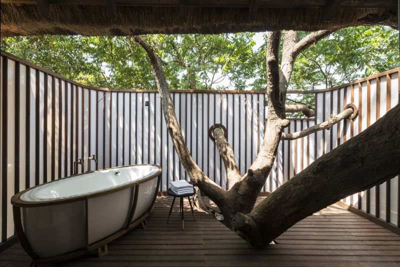 The outdoor areas are well-protected and in great sync with nature and their surroundings