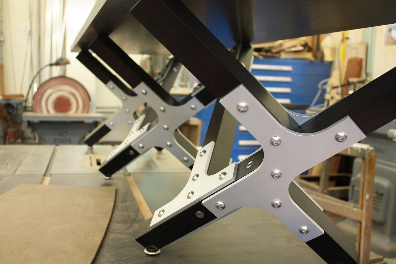 This is another look at an iteration of the aluminum joinery Harrison has developed.