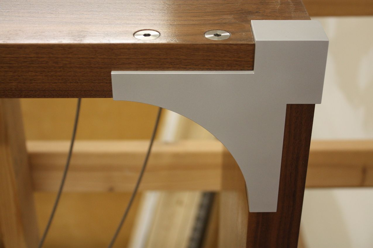 A glimpse of the artistic joinery that Harrison has developed to create the piece.