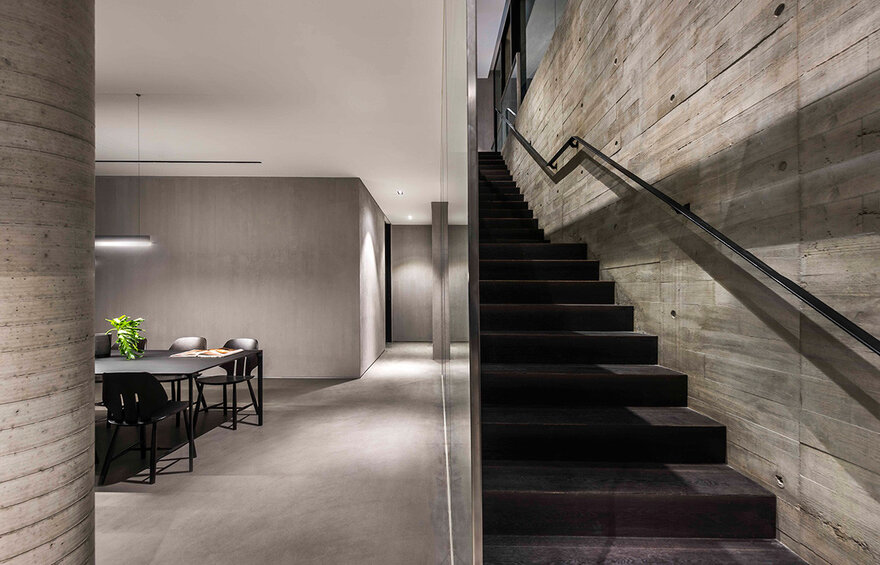 This is the staircase which connects the two floors. It's simple and modern just like the rest of the features