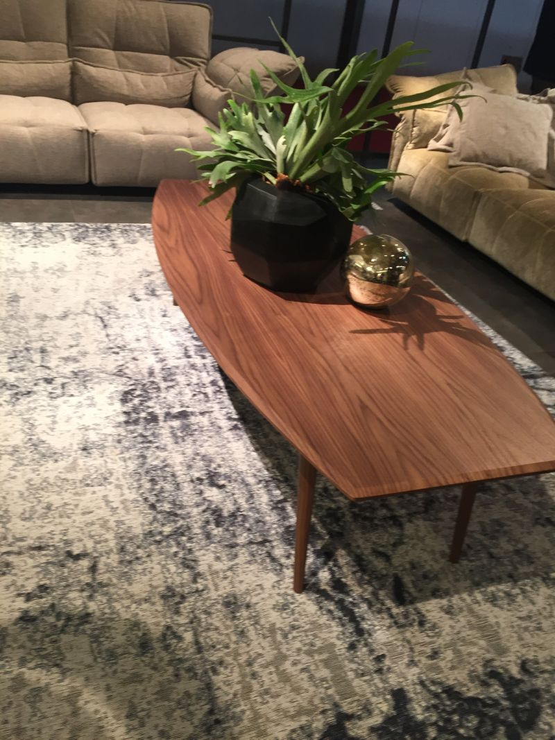 Geometric planter on the coffee table