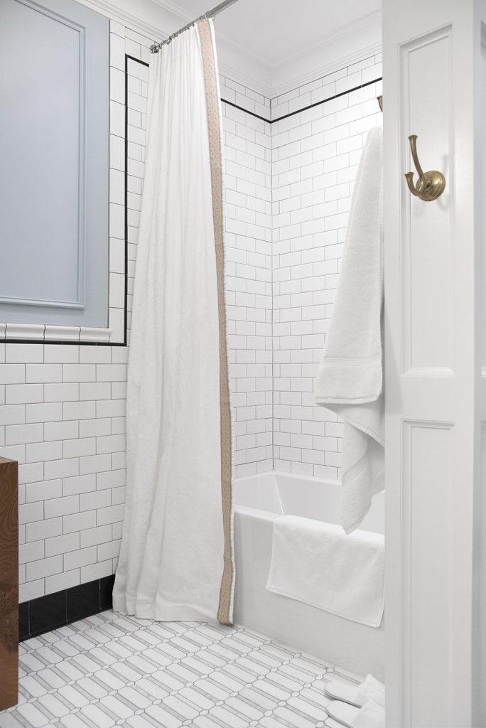Go with a White on White Shower Curtain