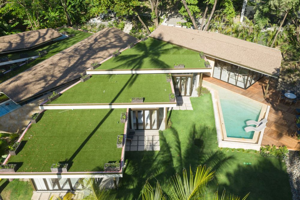Casa Caracali is entirely covered with green roofs, yet another element which allows it to blend into the landscape