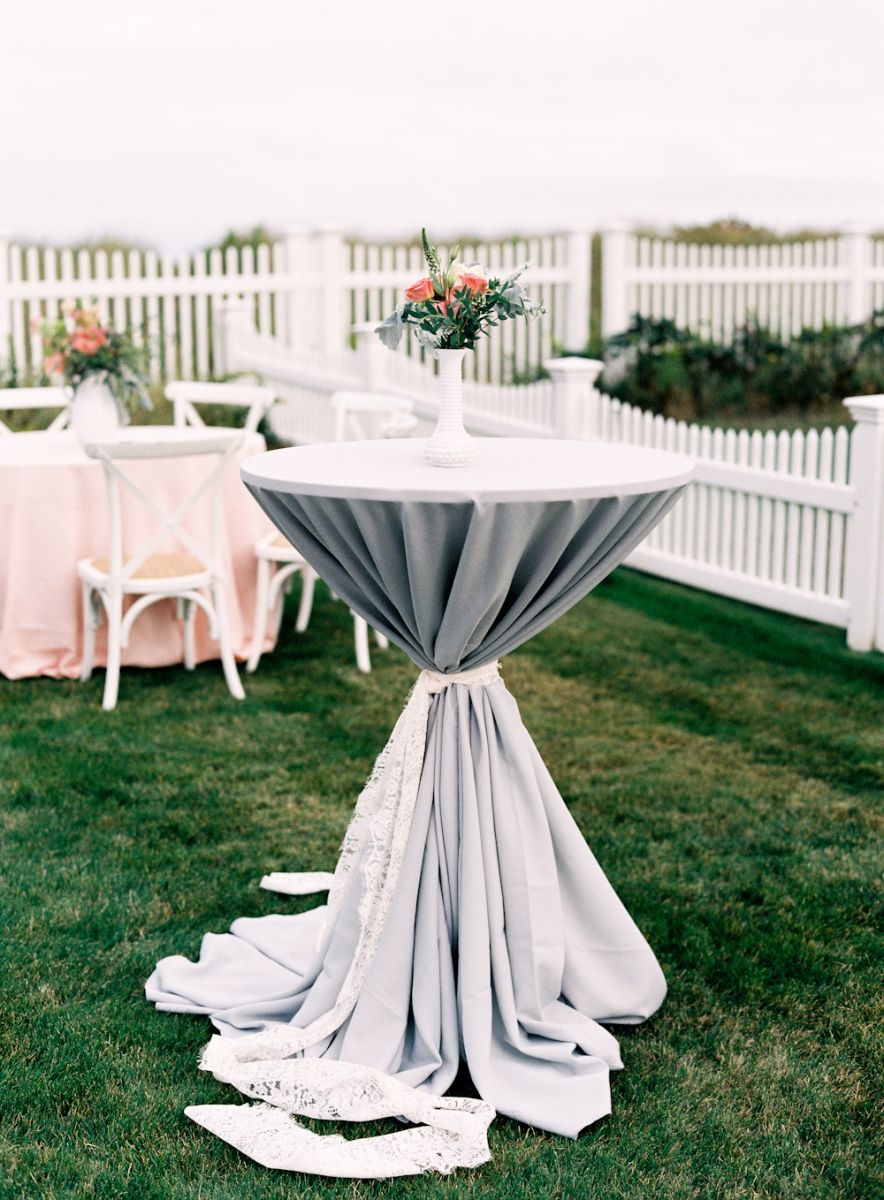 Grey Cocktail Table Design for a Modern Wedding Reception