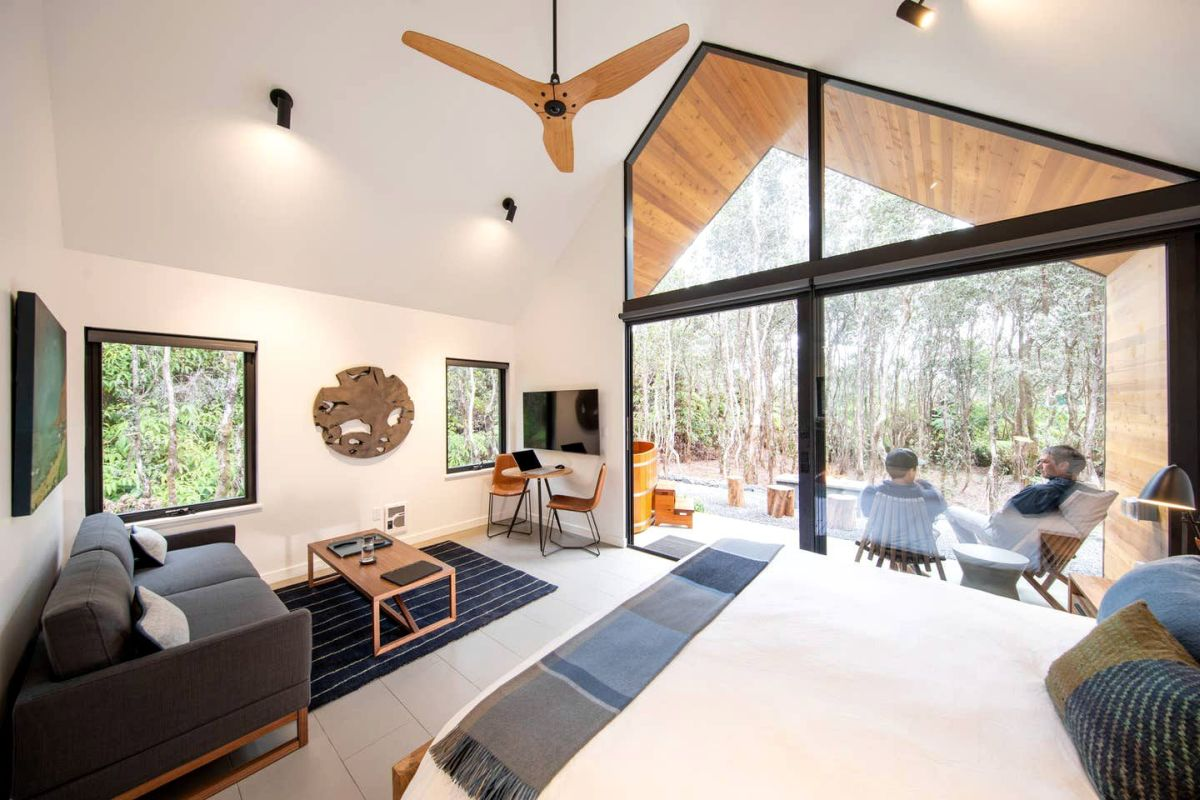 Inside all the living and sleeping areas are part of the same open space